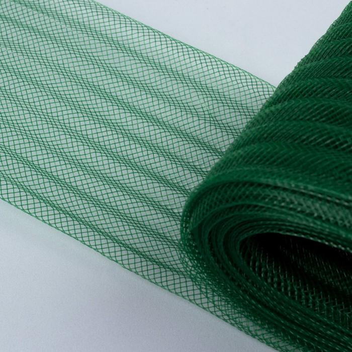 Регилин плоский, гофрированный, 70 мм, 20 ± 1 м, цвет зелёный