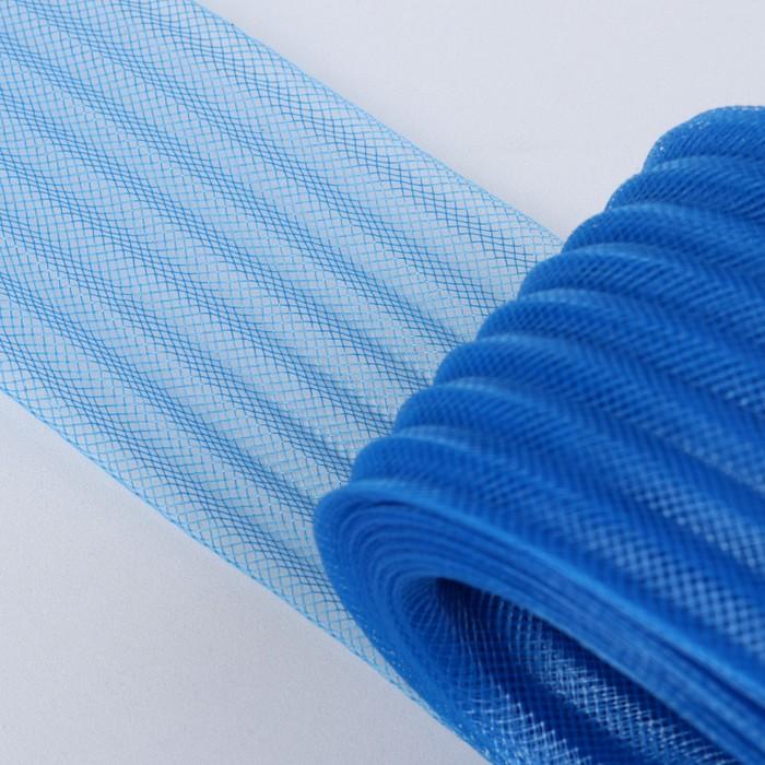 Регилин плоский, гофрированный, 70мм, 20±1м, цвет синий