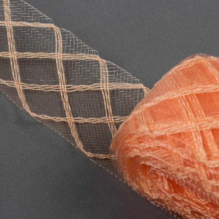 Регилин плоский «Клетка», 45 мм, 22 ± 1 м, цвет персиковый