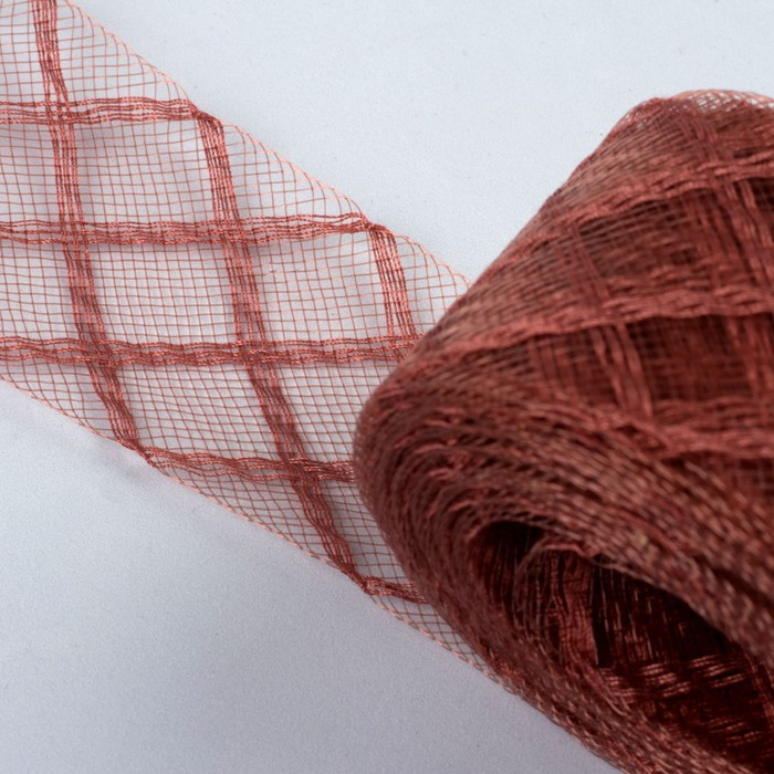 Регилин плоский «Клетка», 45 мм, 22 ± 1 м, цвет коричневый