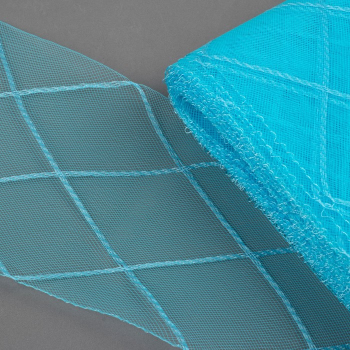 """Регилин плоский """"Клетка"""", большая, 160мм, 25±1м, цвет голубой"""