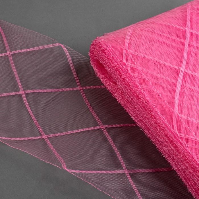 Регилин плоский «Клетка большая», 160 мм, 25 ± 0,5 м, цвет розовый