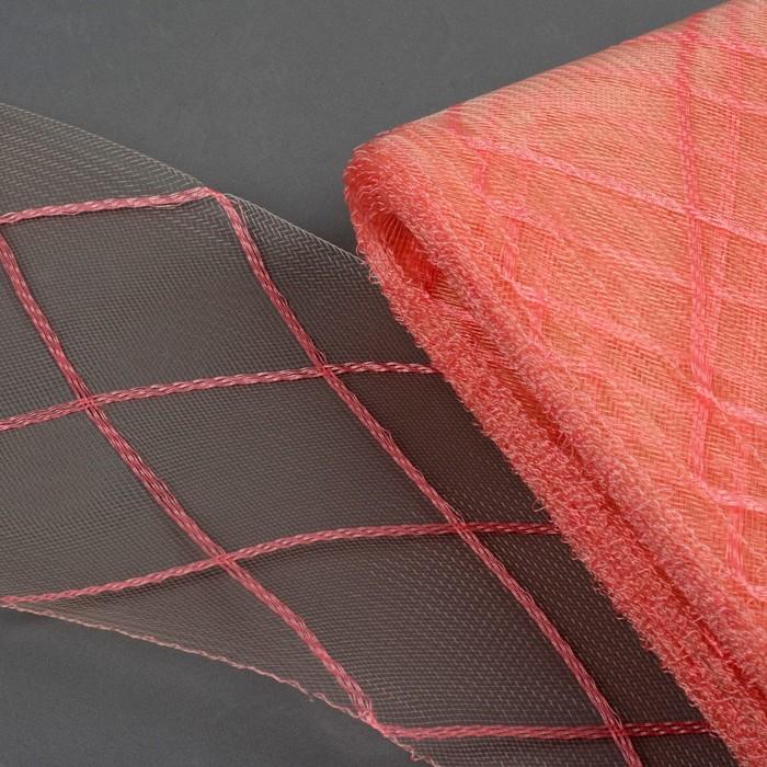 Регилин плоский «Клетка большая», 160 мм, 25 ± 0,5 м, цвет жемчужно-розовый