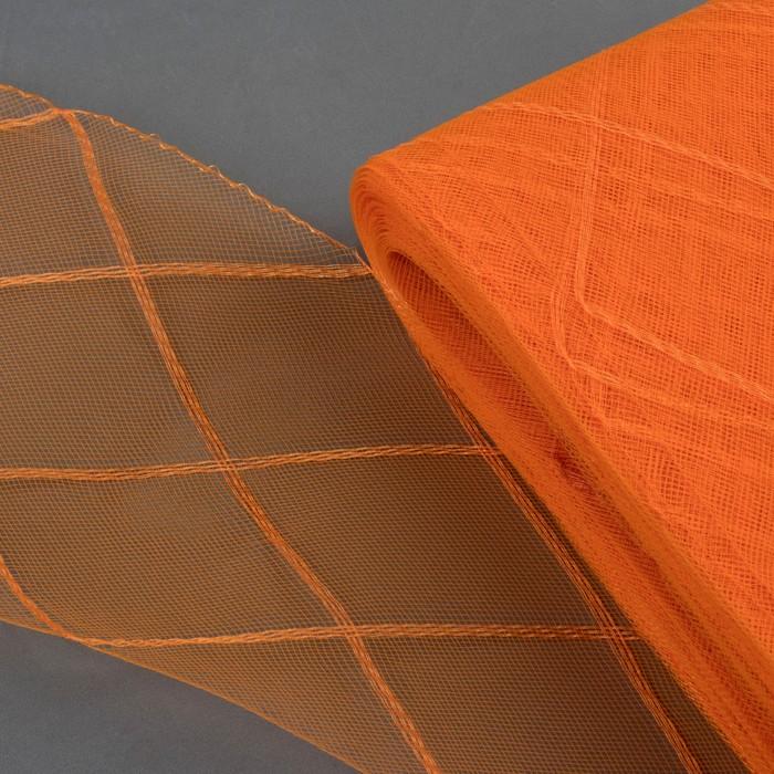 """Регилин плоский """"Клетка"""", большая, 160мм, 25±1м, цвет оранжевый"""