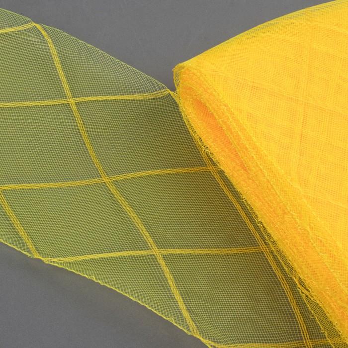"""Регилин плоский """"Клетка"""", большая, 160мм, 25±1м, цвет жёлтый"""