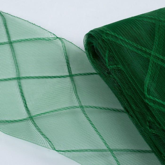 """Регилин плоский """"Клетка"""", большая, 160мм, 25±1м, цвет зелёный"""