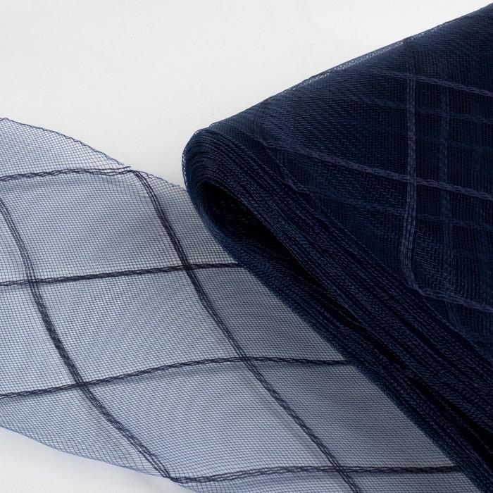 """Регилин плоский """"Клетка"""", большая, 160мм, 25±1м, цвет синий"""