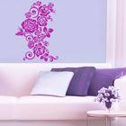 Интерьерная наклейка‒трафарет «Цветочный орнамент», 47 х 32 см