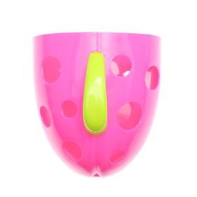 Контейнер для хранения игрушек в ванной комнате, цвет розовый в наличии