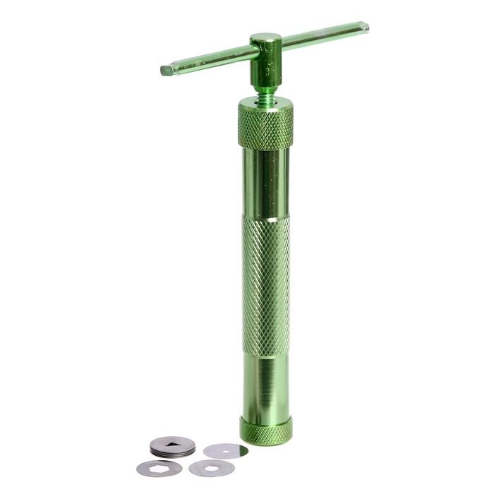 Экструдер металлический для пластики, винтовой, 19 насадок