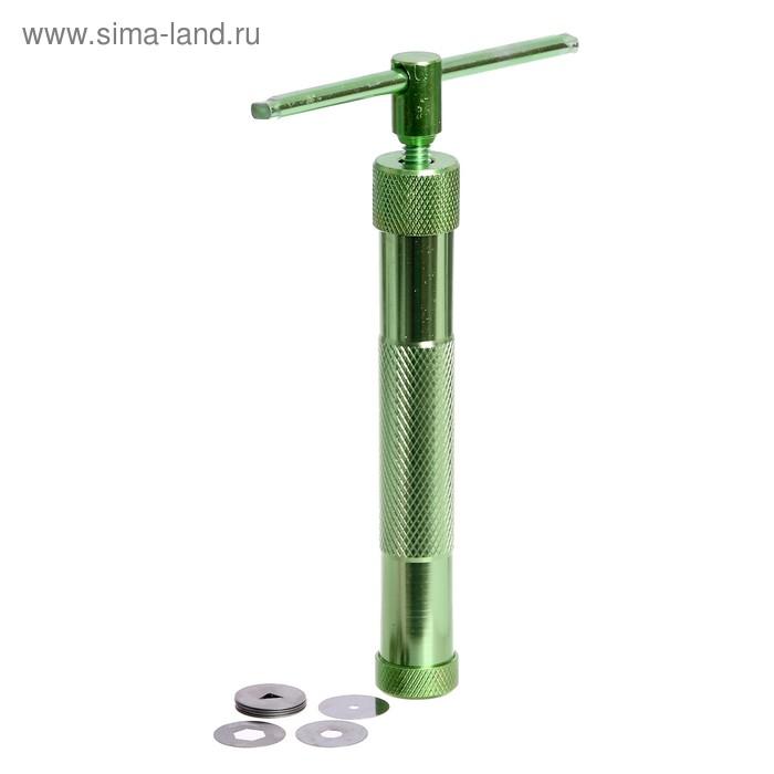 Экструдер металл для пластики, винтовой, 19 насадок
