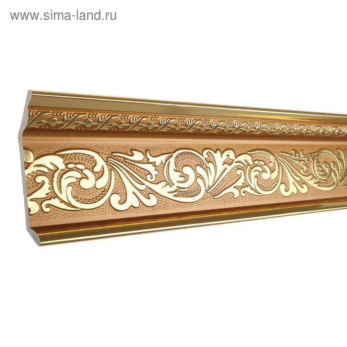 Плинтус потолочный красное золото 10,7х2,5х240