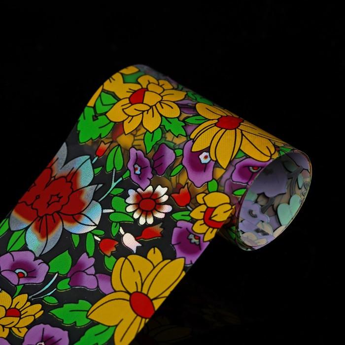 """Переводная фольга для дизайна ногтей """"Цветочная поляна"""", 4х50см"""
