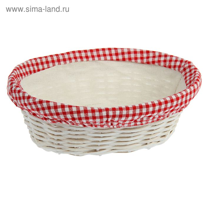 Корзинка для фруктов и хлеба 26,5х21х9 см, с салфеткой