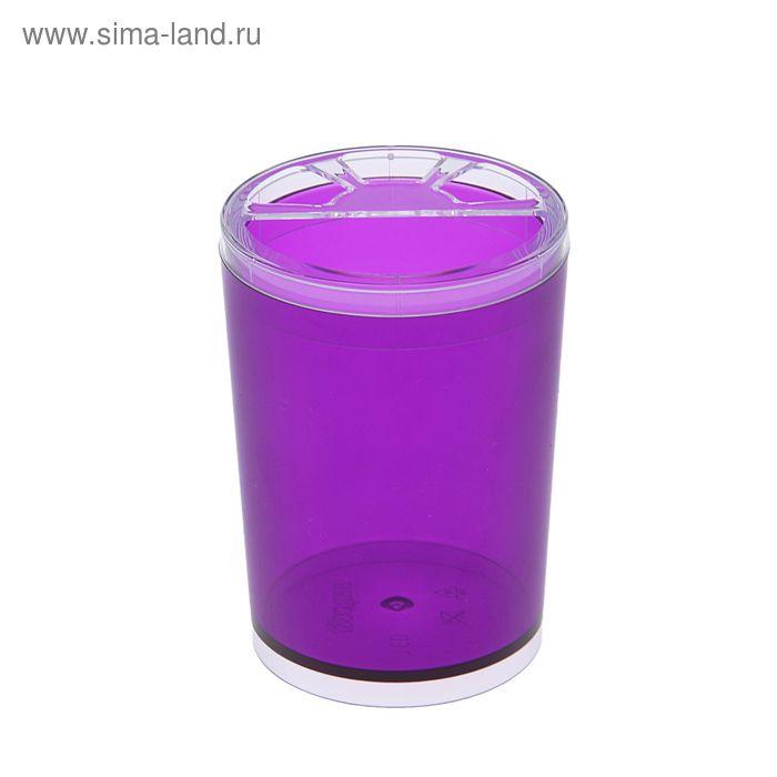 """Подставка для зубных щеток """"Joli"""", цвет баклажановый"""