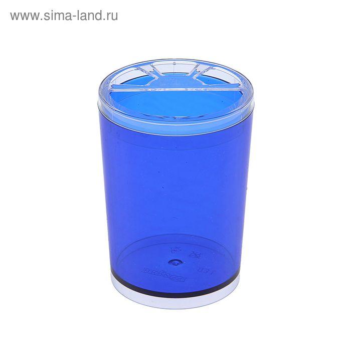 """Подставка для зубных щеток """"Joli"""", цвет синий, полупрозрачный"""