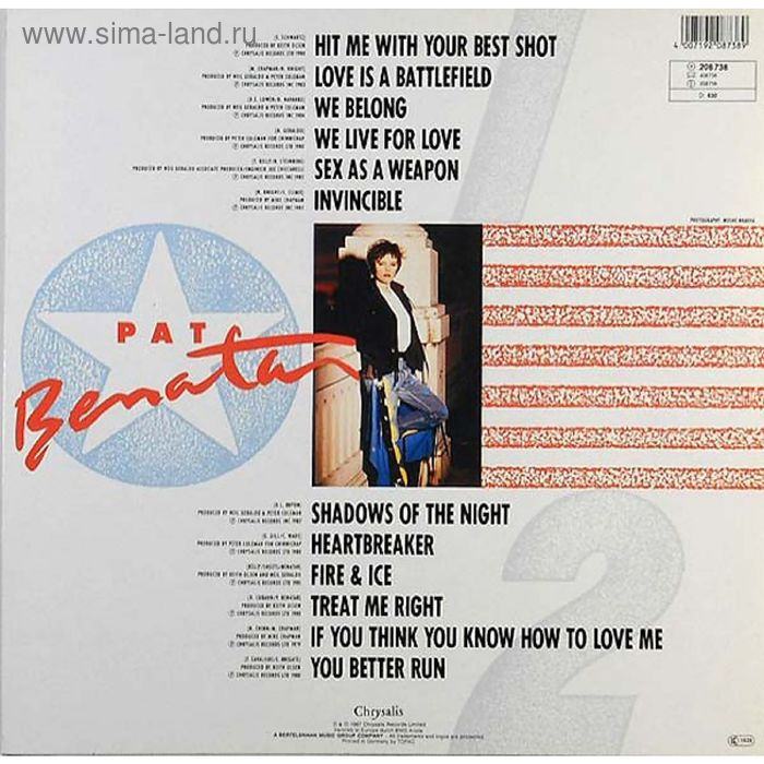 Виниловая пластинка Pat Benatar - Best Shots