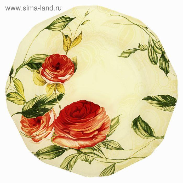 "Тарелка десертная d=20 cм ""Чайная роза"""