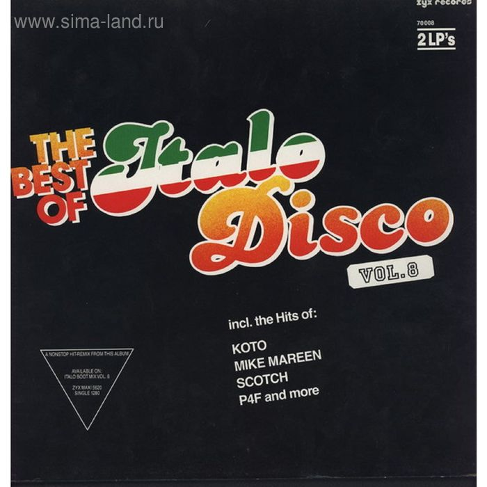 Виниловая пластинка zzzzVarious - The Best Of Italo-Disco Vol. 8