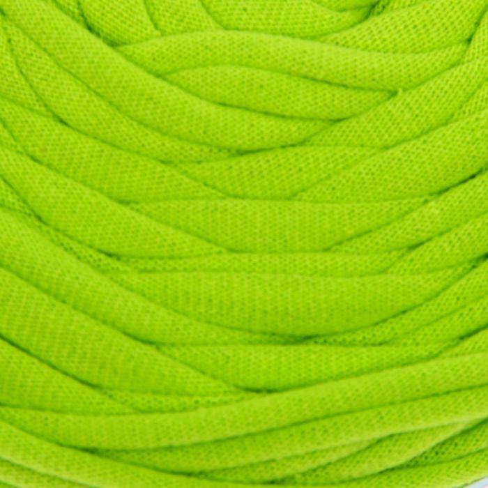 Пряжа трикотажная широкая 50м/170гр, ширина нити 7-9 мм (030 яр.зеленый) МИКС