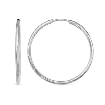 """Серьги """"Кольца"""" d=2,5см, посеребрение с оксидированием"""
