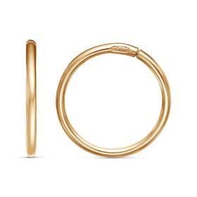 """Серьги """"Кольца"""" малые d=1,6см, позолота"""