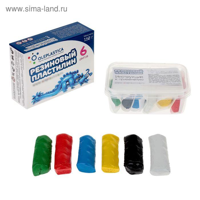 """Резиновый арт-пластилин """"Rubber Gum"""", 6 цветов, 150 г"""