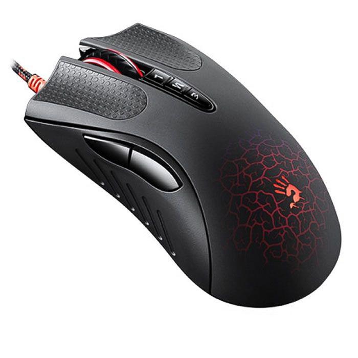 Мышь A4 Bloody AL9 Blazing, черный, лазерная, USB2.0