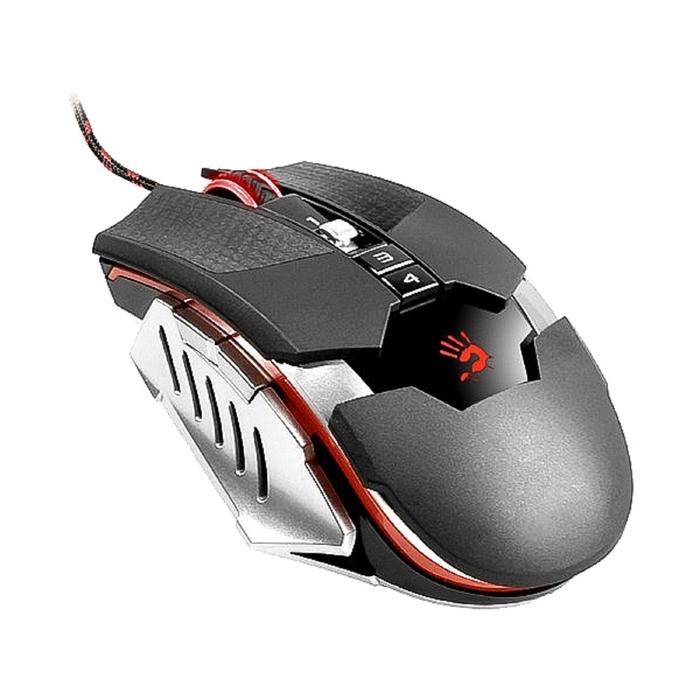Мышь A4 Bloody T5 Winner, черный/серый, оптическая, USB2.0