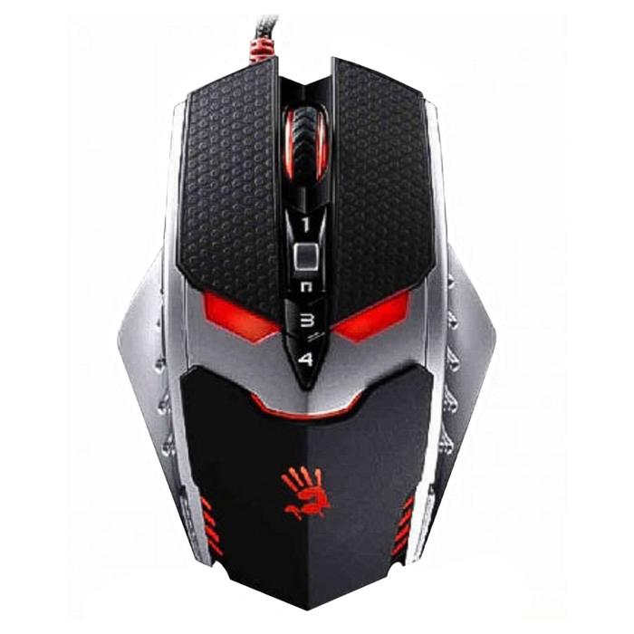 Мышь A4 Bloody TL8 Terminator, цвет чёрный/серебристый, оптическая, USB 2.0