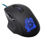 Мышь Oklick 725G DRAGON, игровая, проводная, оптическая, 2400 dpi, USB, черно-синяя