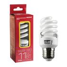 """Лампа энергосберегающая """"Старт"""" Эко, Е27, 11 Вт, 2700 K, 230 В, теплый белый"""