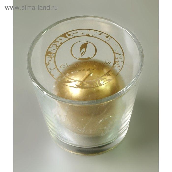 Свеча шарзолотой в стекле