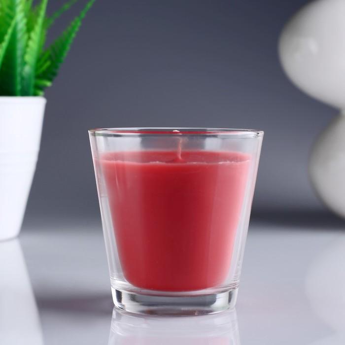 Свеча ароматизированная в стакане «Клубника»