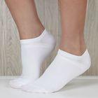 Набор носков женских ONLITOP спорт-3 шт,р-р36-39,белые,75% п/а,22% п/э, 3% эл.