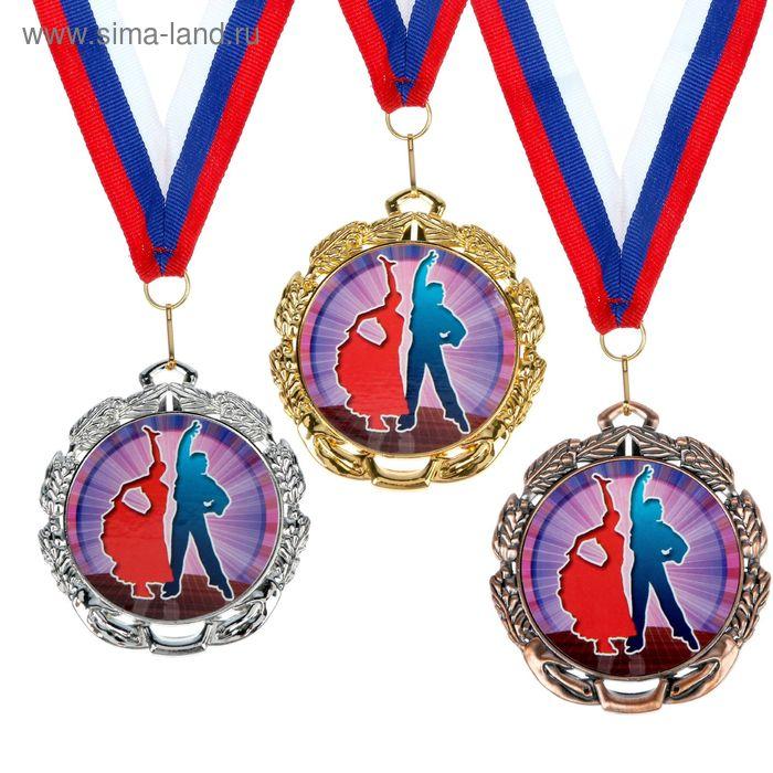 """Медаль тематическая 046 """"Танцы парные"""", диам 6,5 см Цвет зол"""