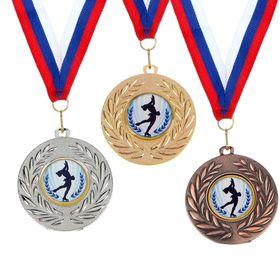 Медаль тематическая 076 'Фигурное катание'серебро Ош