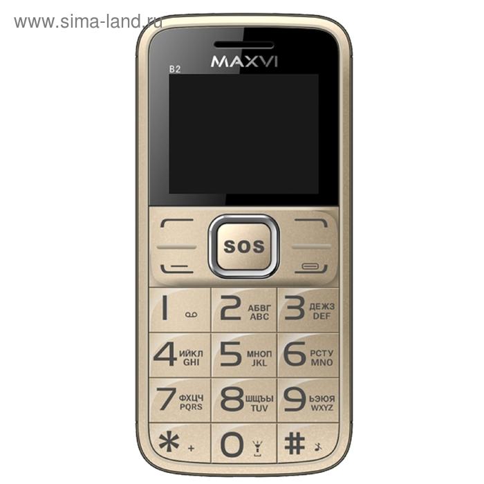 Мобильный телефон Maxvi B2, золотой