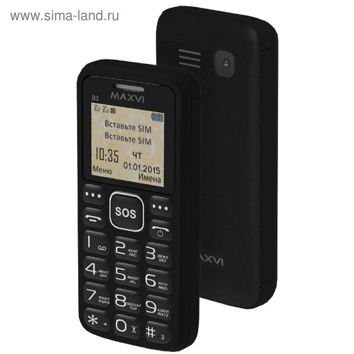 Мобильный телефон Maxvi B3, чёрный