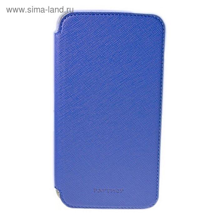 """Чехол Partner Book-case 4,8"""", синий  (размер 7.0*13.7 см)"""