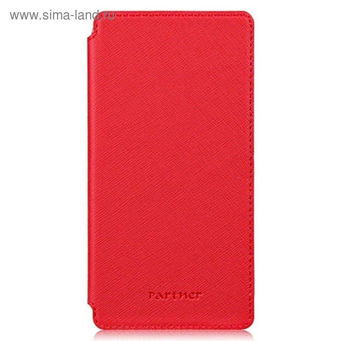 """Чехол Partner Book-case 5,2"""", красный  (размер 7.5*14.9 см)"""