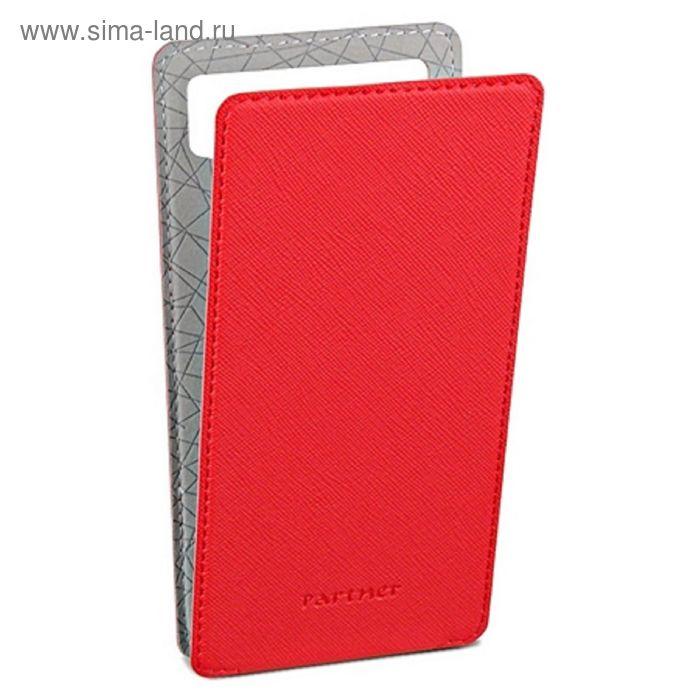 """Чехол Partner Flip-case 4,2"""", красный  (размер 6.9*13.0 см)"""