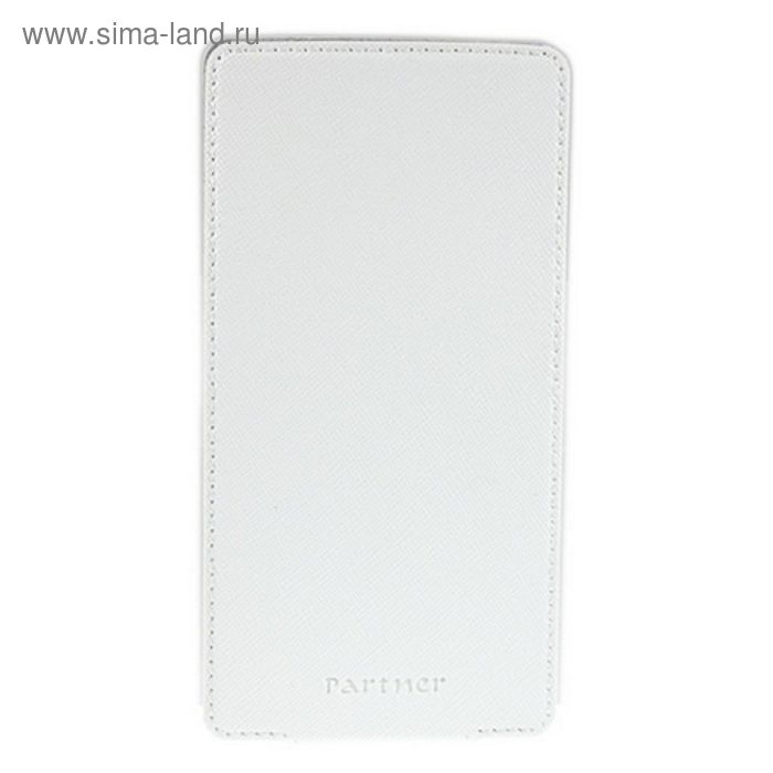 """Чехол Partner Flip-case 4,8"""", белый  (размер 7.0*13.7 см)"""