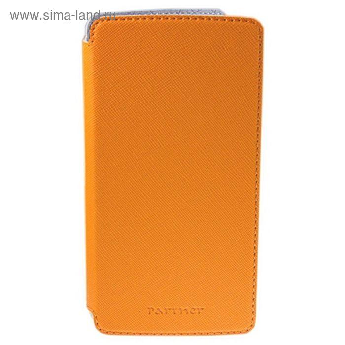 """Чехол Partner Flip-case 4,8"""", оранжевый (размер 7.0*13.7 см)"""