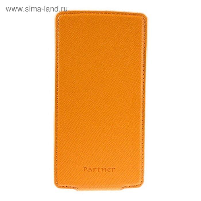 """Чехол Partner Flip-case 5,5"""", оранжевый (размер 8.0*15.5 см)"""