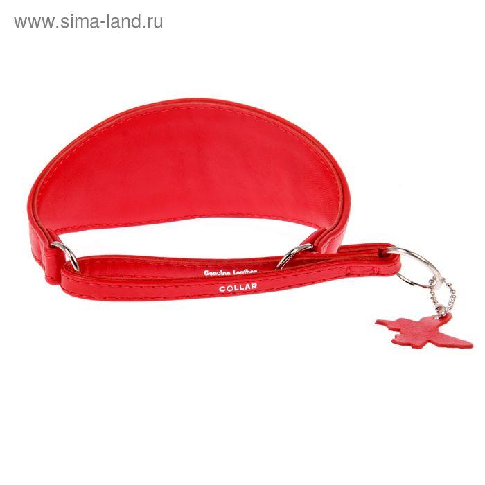 Ошейник-удавка широкий CoLLaR Glomour, 26-36 х 5,5 см, красный