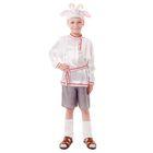 """Карнавальный костюм """"Барашек"""", рубашка, шорты, меховой жилет, шапка, гетры, р-р 56, рост 98-104 см"""