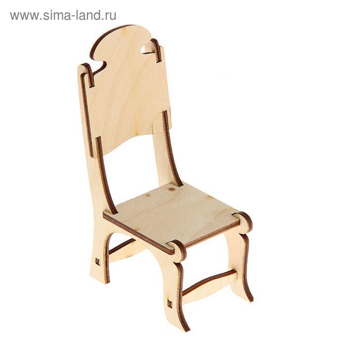 Заготовка Кукольная мебель стул 15*9,5*6 см