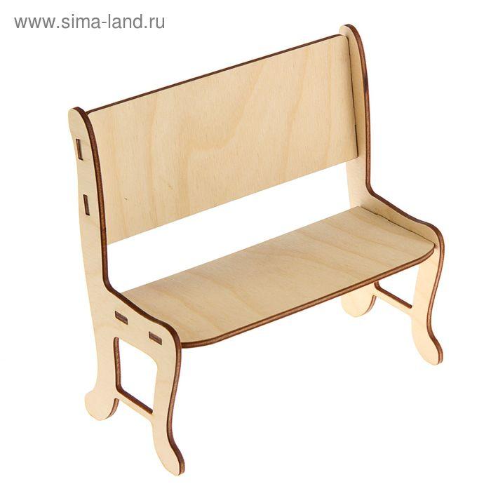 Заготовка Кукольная мебель Скамейка 186х90х186 мм