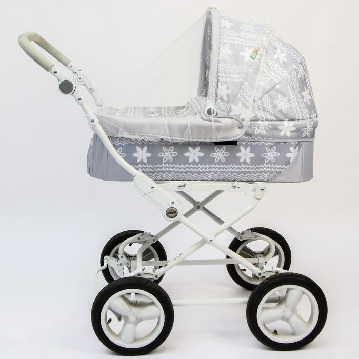 Москитная сетка на коляску универсальная, цвет белый, 75х100 см